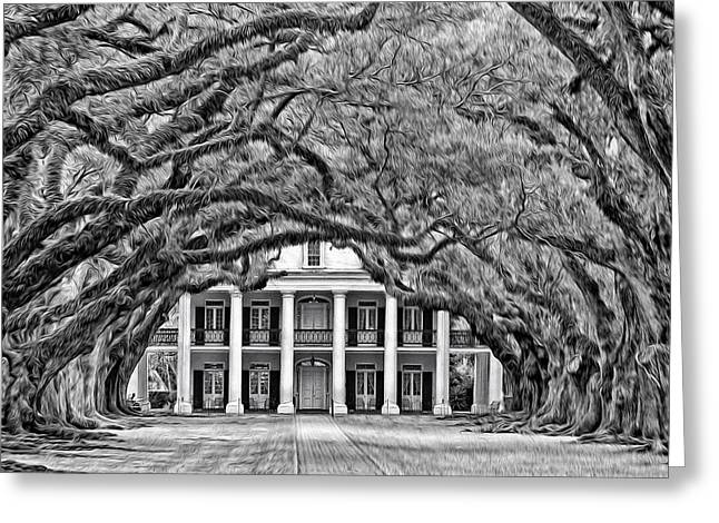 Southern Class Oil Bw Greeting Card