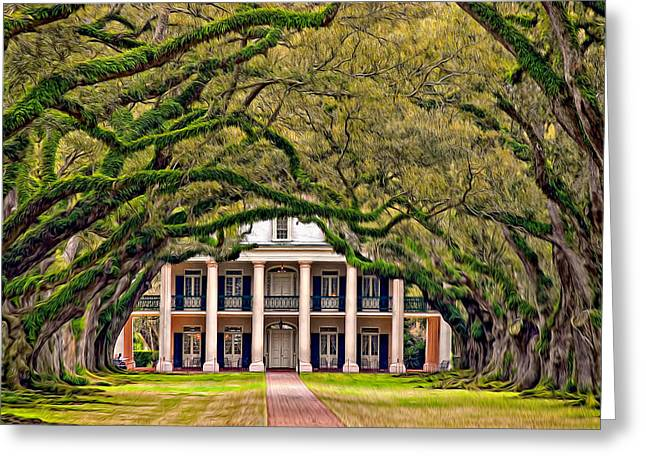 Southern Class Oil Greeting Card