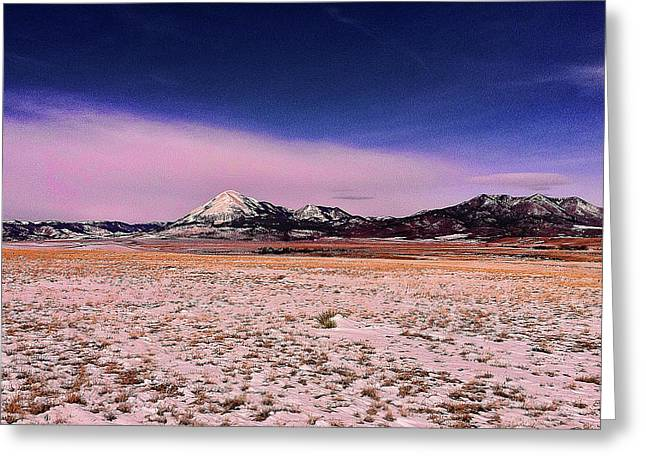 Greeting Card featuring the photograph Southern Colorado Mountains by Ron Roberts