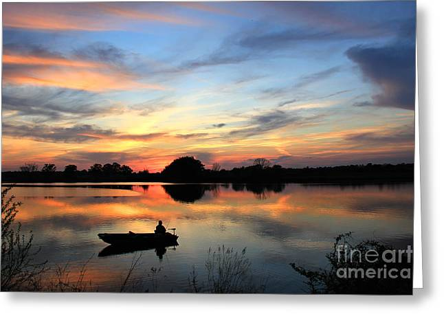 Southern Comfort Greeting Card by Leslie Kirk