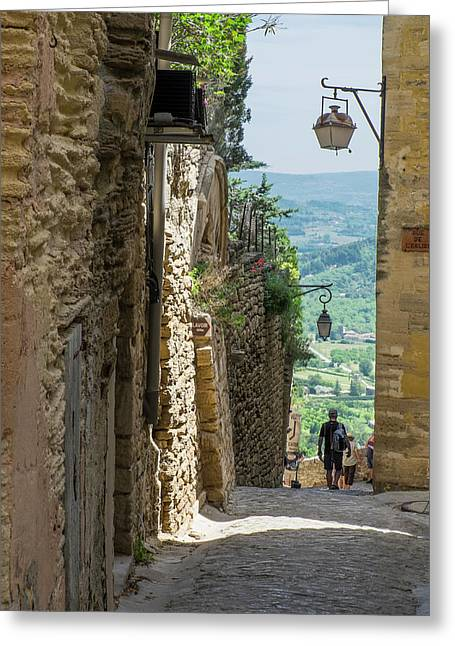 Southern France, Provence, Bonnieux Greeting Card by Emily Wilson