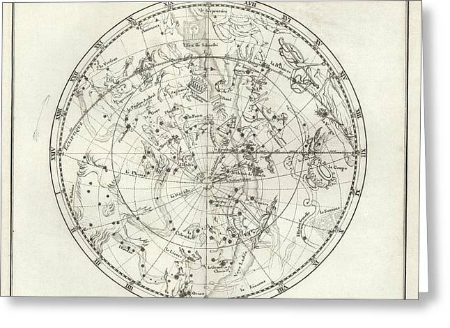 Southern Hemisphere Star Chart Greeting Card by Us Navy