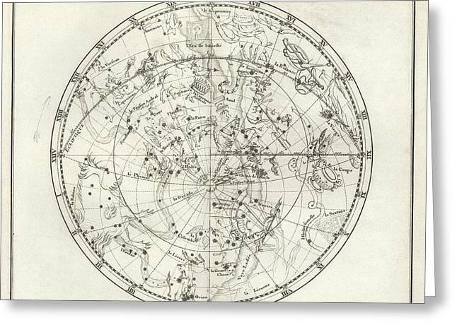 Southern Hemisphere Star Chart Greeting Card