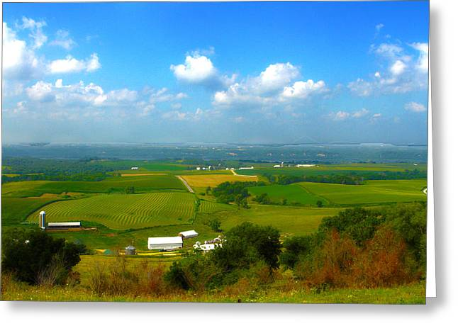 Southern Illinois River Basin Farmland Greeting Card