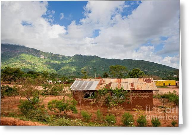 Southern Kenya Poverty Landscape Greeting Card