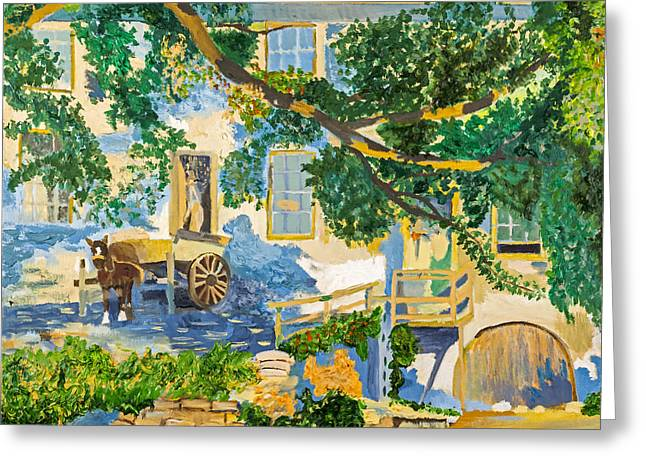 Southern Life By Stan Bialick Greeting Card by Sheldon Kralstein