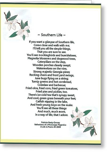 Southern Life Greeting Card by Patricia Neely-Dorsey