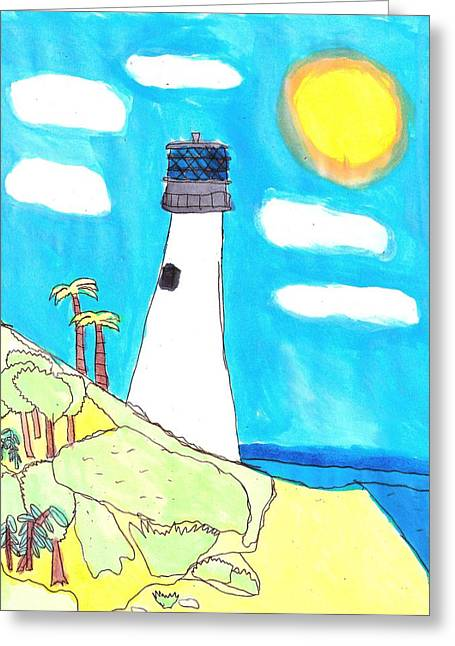 Southern Lighthouse Greeting Card by Artists With Autism Inc