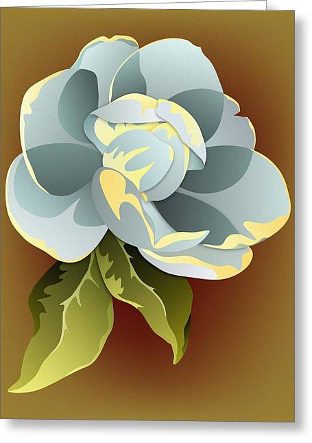 Southern Magnolia Blossom Greeting Card by MM Anderson