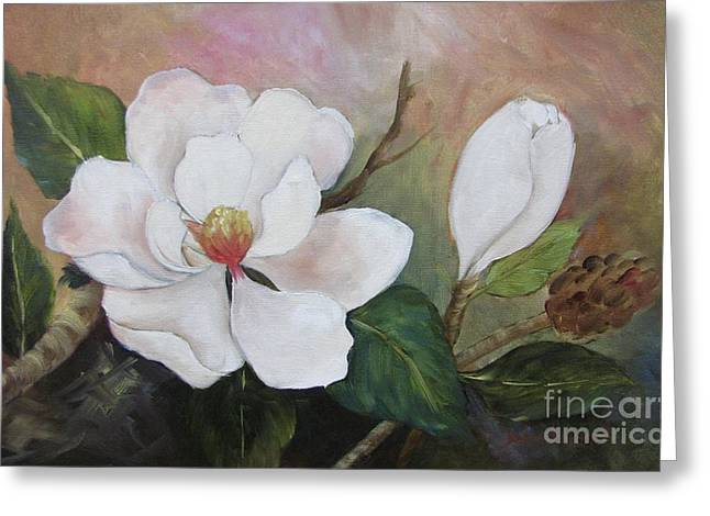 Southern Magnolias II By Barbara Haviland Greeting Card
