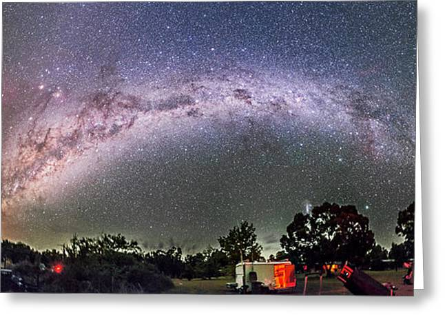 Southern Milky Way Over Ozsky Star Greeting Card