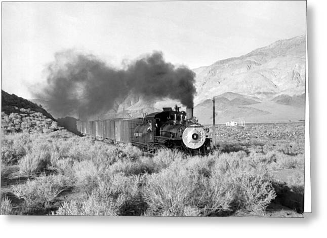 Southern Pacific Locomotive Greeting Card by Underwood Archives