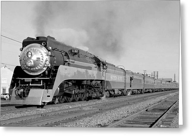Southern Pacific Train In Texas Greeting Card