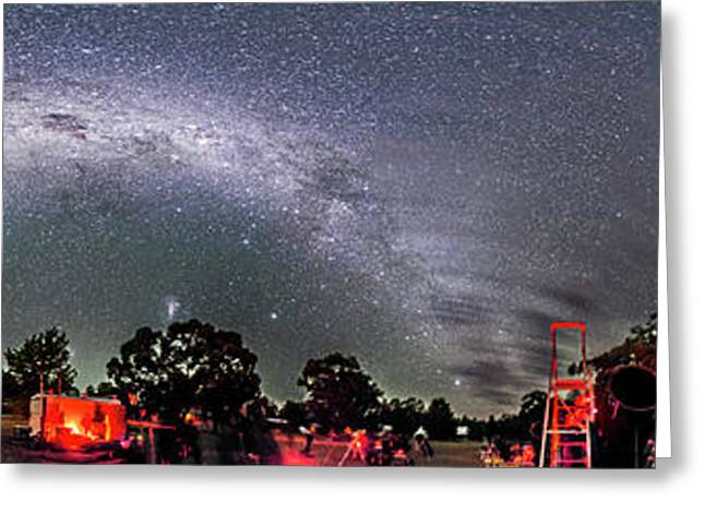 Southern Sky Panorama 2 Rectangular Greeting Card by Alan Dyer