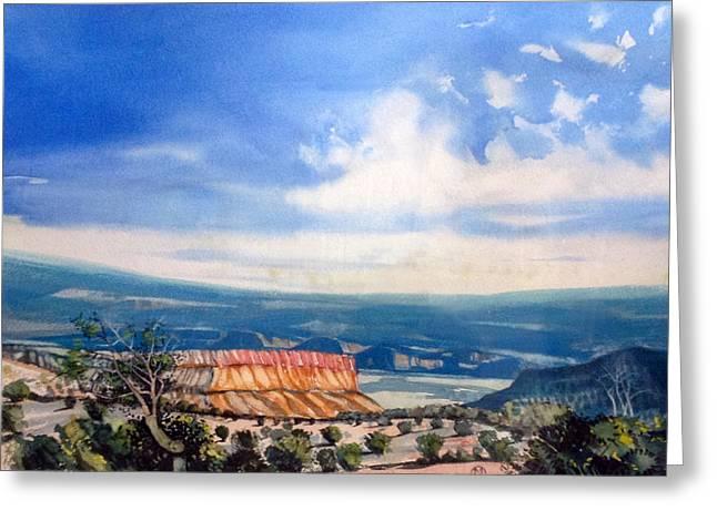 Southern Utah Panorama Greeting Card by Matthew Chatterley