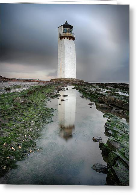Southerness Lighthouse Greeting Card by Grant Glendinning