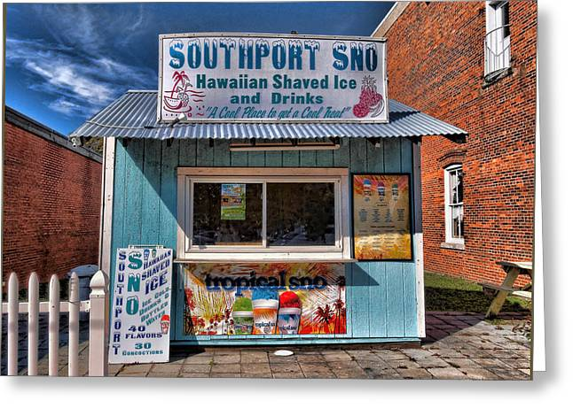Southport Sno Greeting Card
