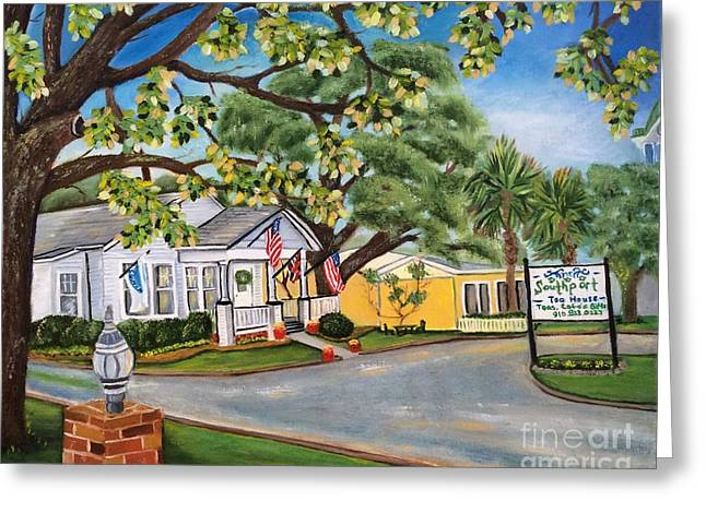 Southport Tea House Greeting Card by Shelia Kempf