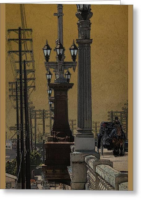 Southside Bridge Greeting Card by Bill Jonas