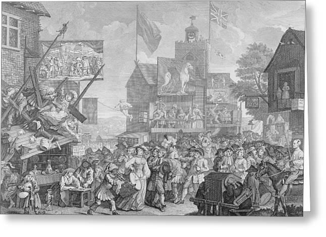 Southwark Fair Greeting Card by William Hogarth