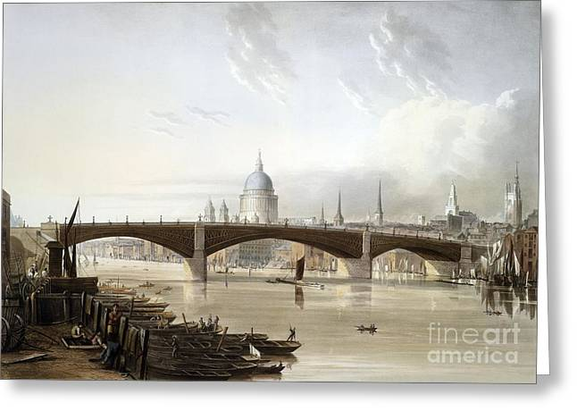 Southwark Iron Bridge, London, Uk Greeting Card