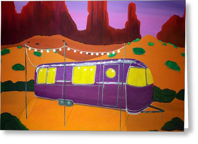 Southwest Contemporary Art - Sedona Twilight Greeting Card by Karyn Robinson