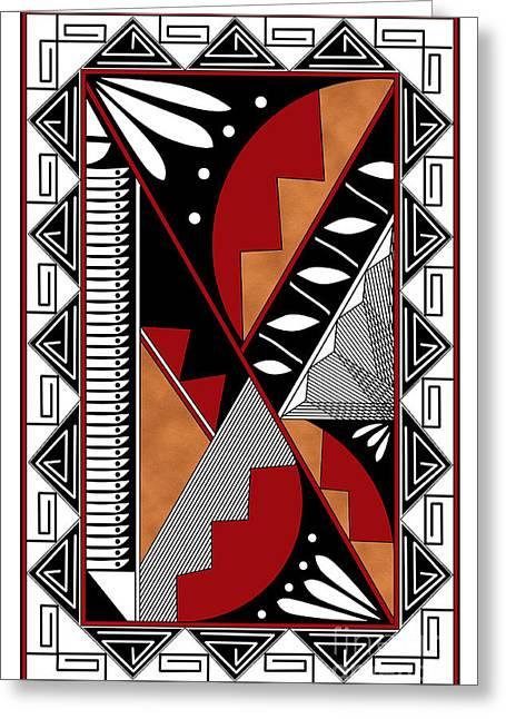 Southwest Collection - Design Seven In Red Greeting Card by Tim Hightower