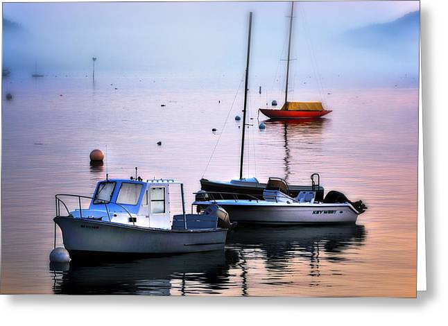 Southwest Harbor View - Mount Desert Island Greeting Card by Expressive Landscapes Fine Art Photography by Thom