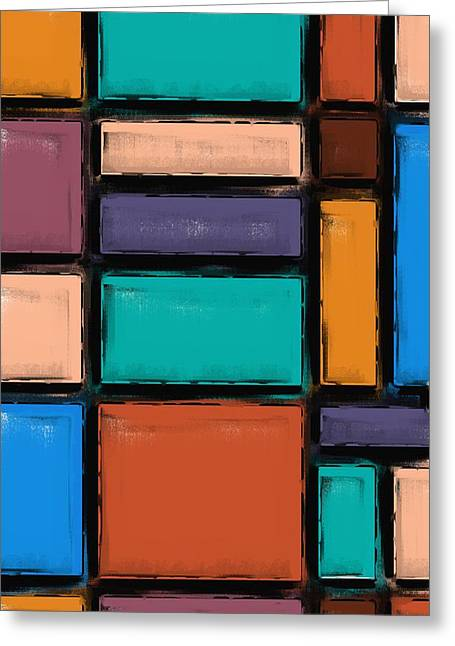 Southwest Home And Garden Color Block Greeting Card