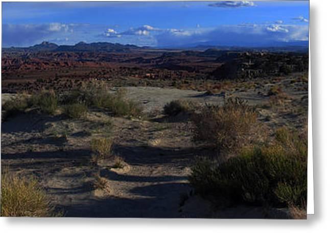 Southwest Snake Canyon Greeting Card by Maria Arango Diener