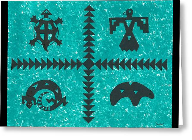 Southwest Symbols Greeting Card