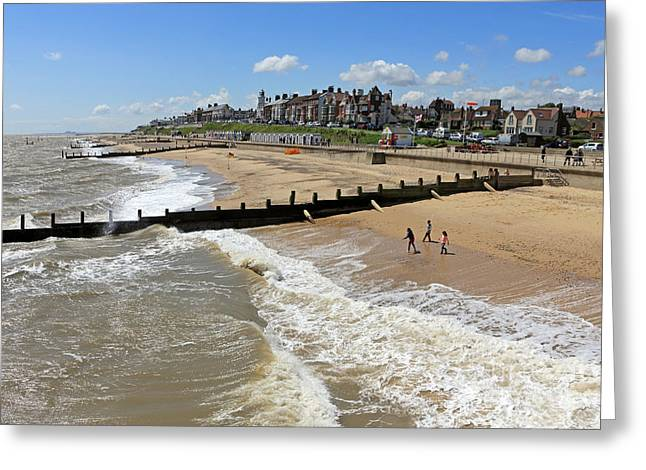 Southwold Beach Greeting Card