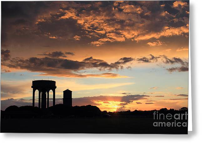 Water Towers On Southwold Common Greeting Card