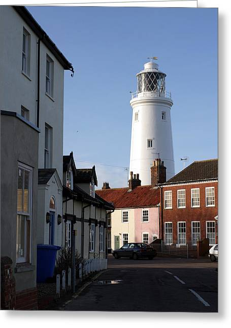 Southwold Lighthouse Greeting Card by Tony Webb