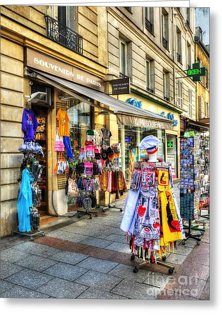 Souvenirs From Paris Greeting Card