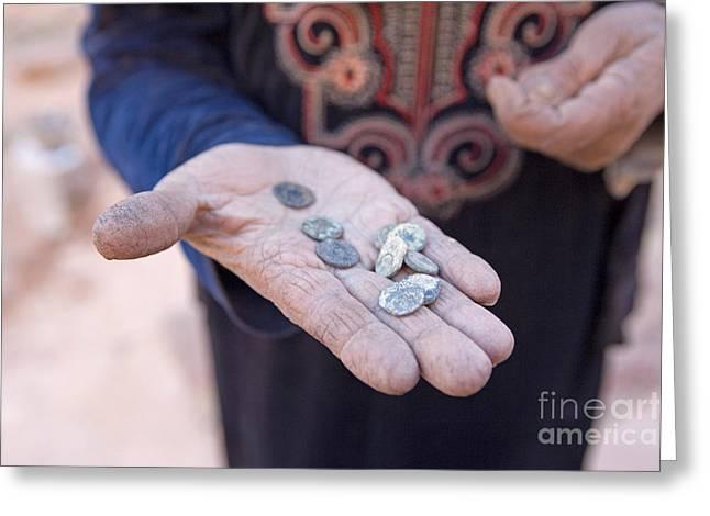Souvenirs, Petra, Jordan Greeting Card by Adam Sylvester
