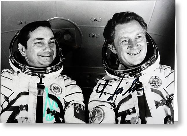 Soyuz 31 Crew Greeting Card by Detlev Van Ravenswaay