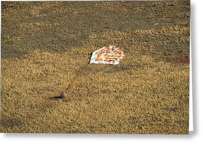 Soyuz Tma-08m Landing Greeting Card