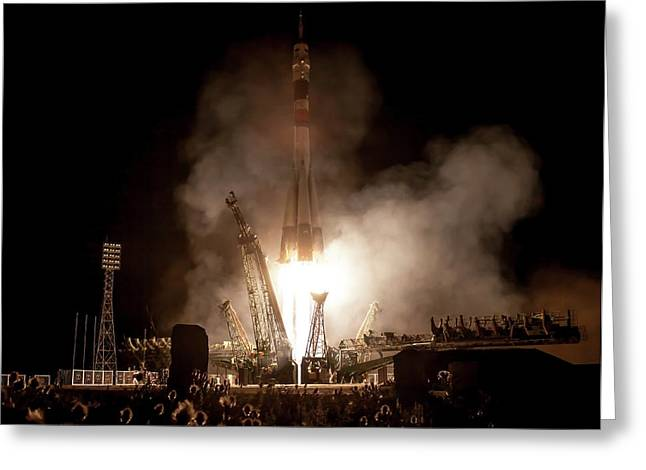 Soyuz Tma-09m Launch Greeting Card