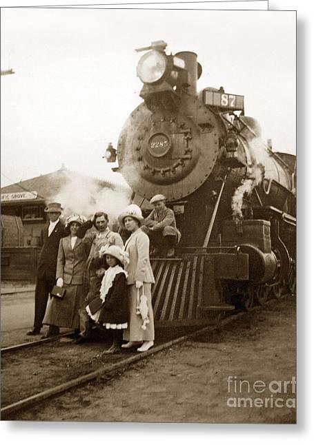 S P Baldwin Locomotive 2285  Class T-26 Ten Wheel Steam Locomotive At Pacific Grove California 1910 Greeting Card