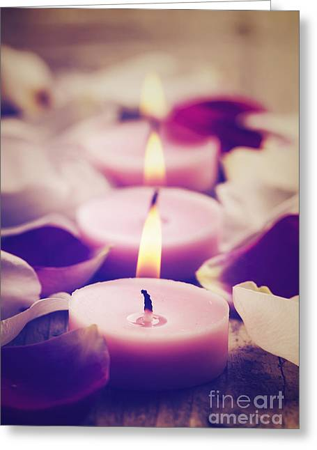 Spa Candles Greeting Card