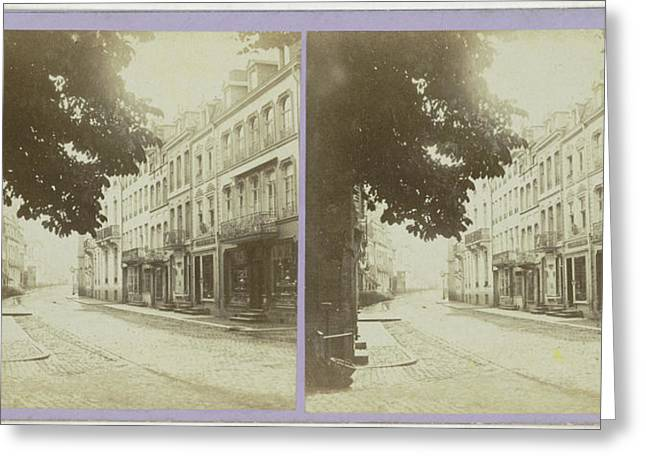 Spa, La Rue Royale, Belgium, Jules Queval Greeting Card