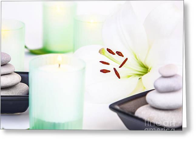Spa Still Life Greeting Card by Anna Om