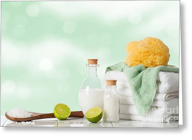 Spa Treatment Greeting Card by Amanda Elwell