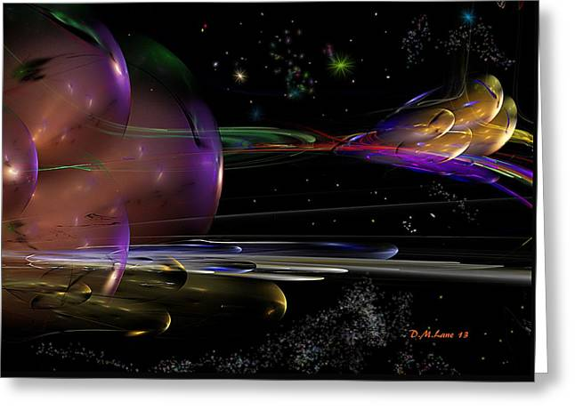 Space Abstraction Greeting Card