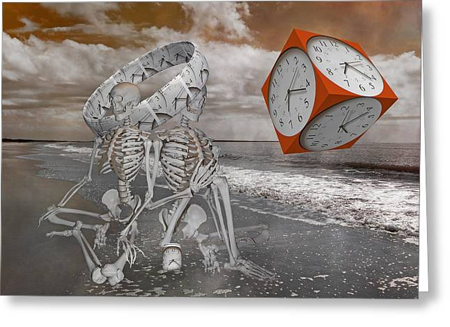 Space And Time Greeting Card by Betsy Knapp