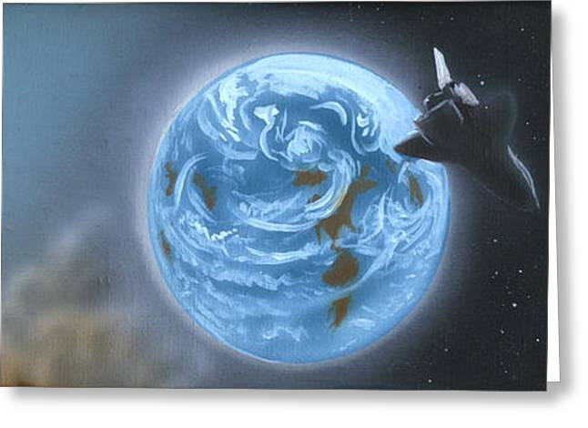 Space Greeting Card by David Zimmerman