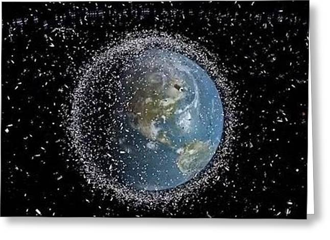 Greeting Card featuring the photograph Space Junk by Science Source