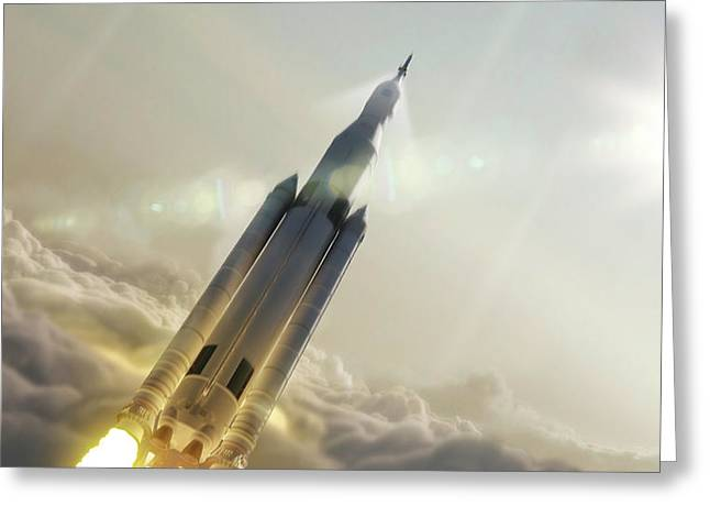 Space Launch System Launch Greeting Card by Nasa/msfc