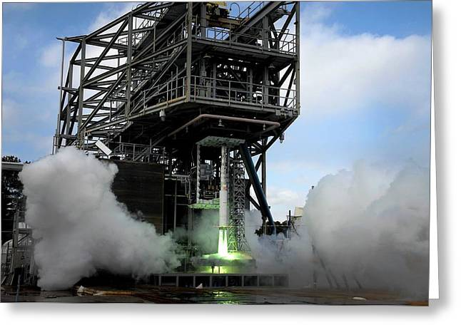 Space Launch System Testing Greeting Card